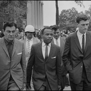 James Meredith and US Deputy Marshals - enrolling at University of Mississippi
