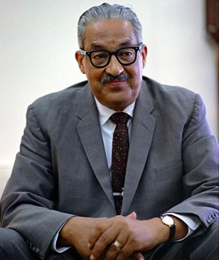 Thurgood Marshall in the Oval Office